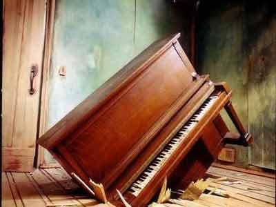 piano smashed